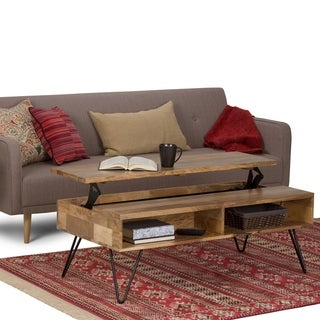 Carbon Loft Quarmby Solid Mango Wood and Metal Lift Top Coffee Table