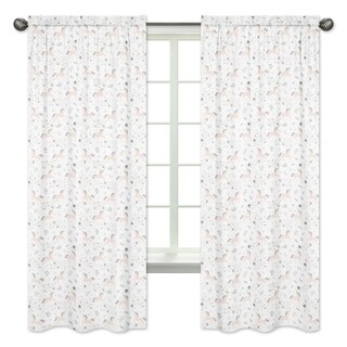 Sweet Jojo Designs Pink, Grey and Gold Unicorn Collection 84-inch Window Treatment Curtain Panel Pair