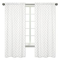 Sweet Jojo Designs Gold and White Star Celestial Collection 84-inch Window Treatment Curtain Panel Pair