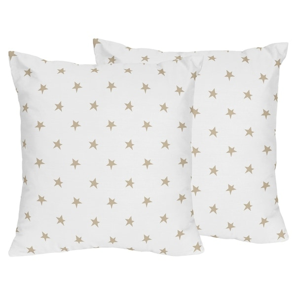 Shop Sweet Jojo Designs Gold And White Star Celestial Collection 40 Magnificent White And Gold Decorative Pillows
