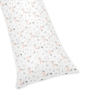 Sweet Jojo Designs Pink, Grey and Gold Unicorn Collection Body Pillow Case (Pillow Not Included)