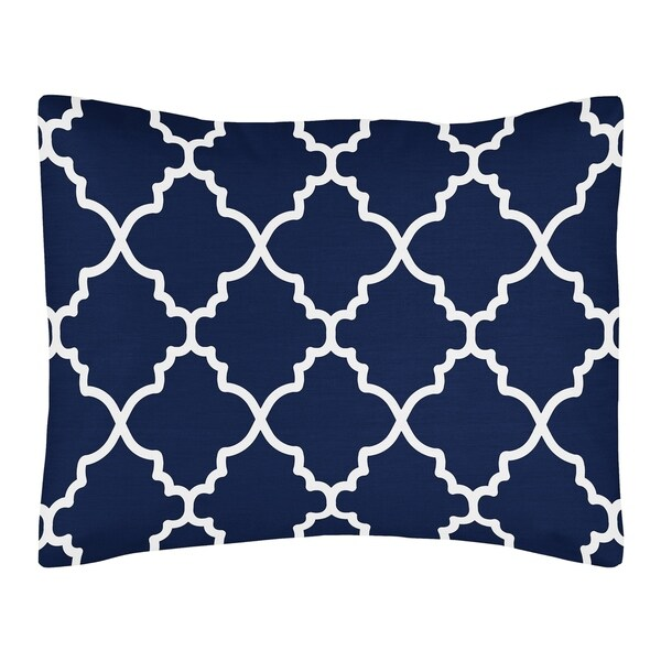 Shop Sweet Jojo Designs Navy Blue And White Modern Trellis