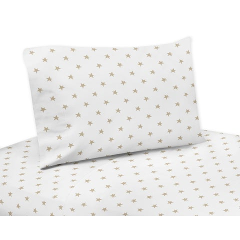 Sweet Jojo Designs Gold and White Star Celestial Collection 3-piece Twin Sheet Set