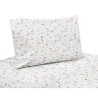 Sweet Jojo Designs Pink, Grey and Gold Unicorn Collection 4-piece Queen Sheet Set