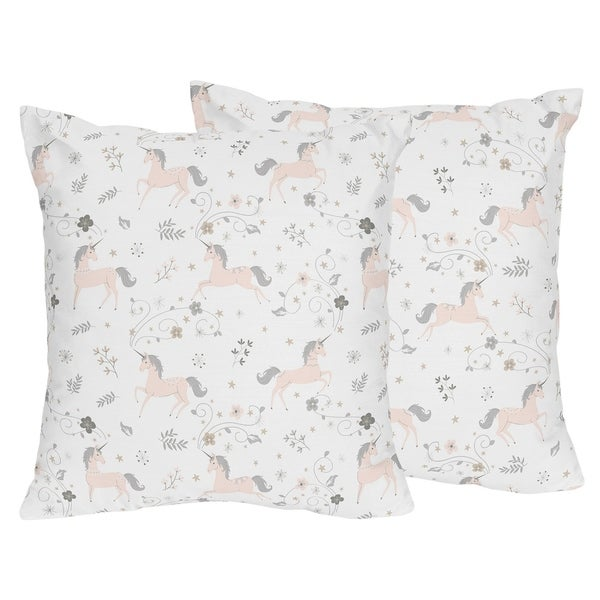 Sweet Jojo Designs Pink Grey And Gold Unicorn Collection 40inch Fascinating Grey And Gold Decorative Pillows