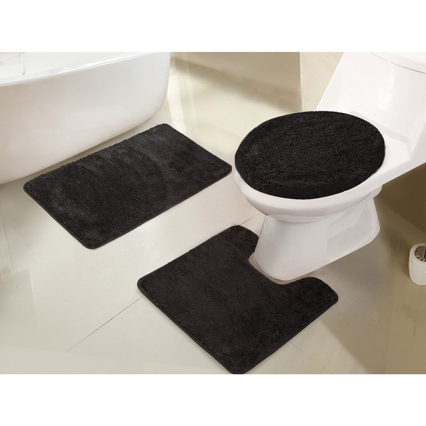 rt designers collection imperial 3 piece bath rug set 18 x 3018 - 3 Piece Bathroom Rug Sets