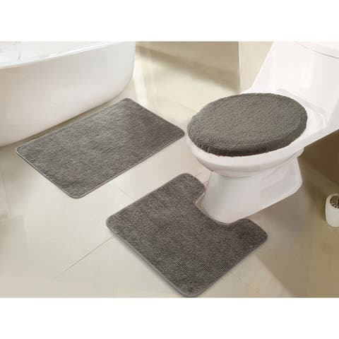 RT Designers Collection Imperial 3-Piece Bath Rug Set - 18 x 30/18 x 18/18 x 18