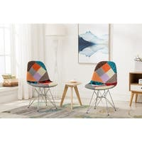 The Curated Nomad Clopin Dining Chair with Fabric Upholstery (Set of 2)