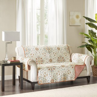 Madison Park Maya Spice Reversible Printed Loveseat Protector