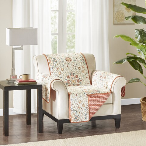Madison Park Maya Spice Reversible Printed Arm Chair Protector