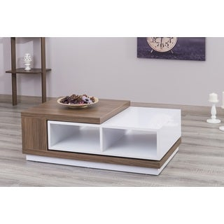 Zoom S Extendable White Mat Coffee Table