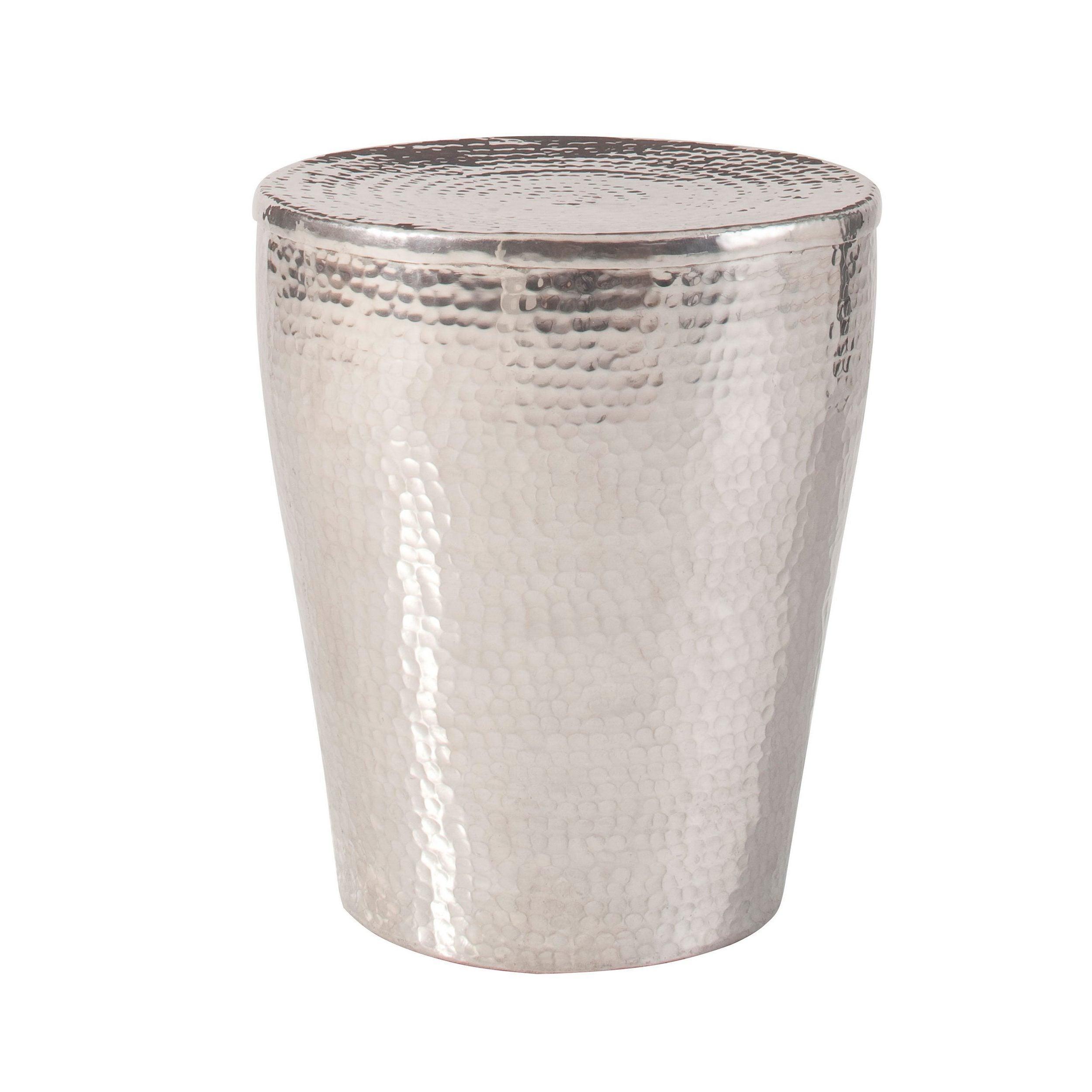 Gerald Aluminum Coffee Table Silver Overstock 18965906