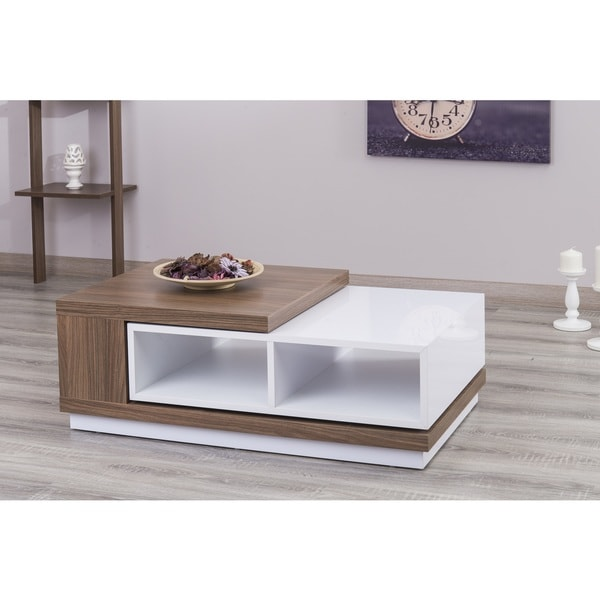 Shop Zoom S Extendable White Lacquer Coffee Table