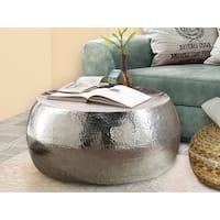 Scandinavian Living Gerald Silver-tone Aluminum Coffee Table