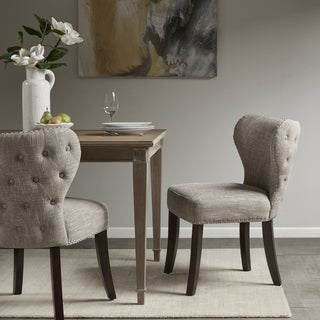 Madison Park Irvine Camel/ Brown Dining Chair - Set of 2