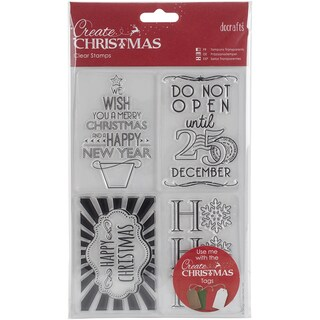 Papermania Create Christmas Mini Clear Stamps 135mm X 195mm