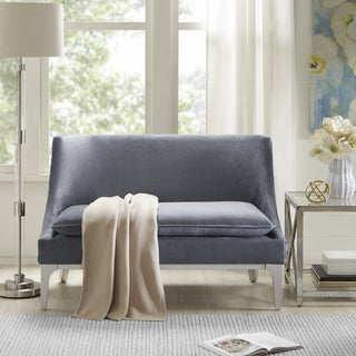 Madison Park Avery Grey Fabric Settee