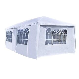 ALEKO 20 x 10 Feet Gazebo Canopy Outdoor Picnic Party Tent White