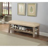 ACME Bigot Bench in Antique White and Fabric