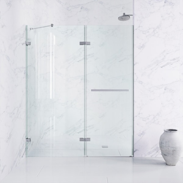 Vigo Nyos Adjule Frameless Hinged Shower Door