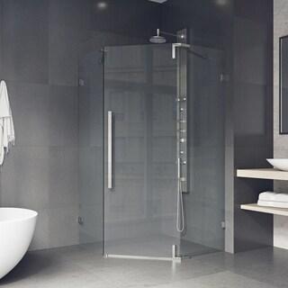 VIGO Ontario Clear Adjustable Frameless Neo-angle Shower Enclosure