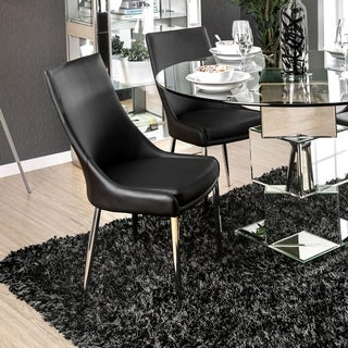 Lindellen Contemporary White Dining Chair (Set of 2) by FOA