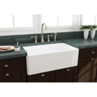 artisan white fireclay large bowl sink artisan kitchen sinks for less   overstock com  rh   overstock com