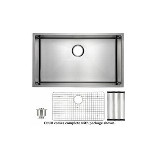 Artisan CPUR2319-D10 Pro Single Bowl 16 Gauge Undermount Sink with Accessories