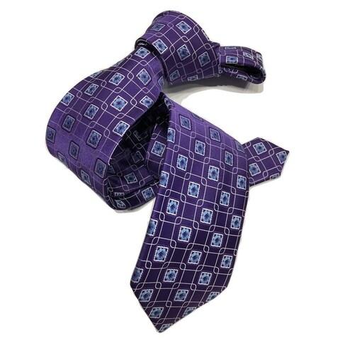 DMITRY Purple/Blue Patterned Italian Silk Tie