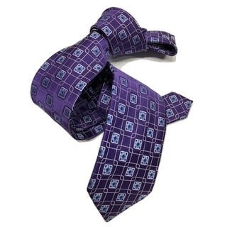 DMITRY Purple/Blue Patterned Italian Silk Tie