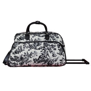 World Traveler Countryside White 21-Inch Carry-On Rolling Duffel Bag
