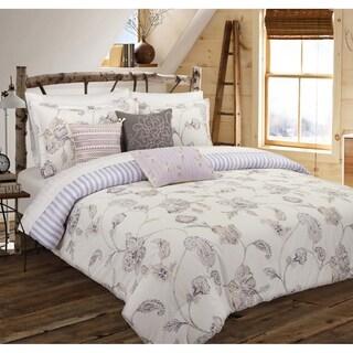 Nouvelle Home Painted Jacobean Cotton Reversible Comforter Set