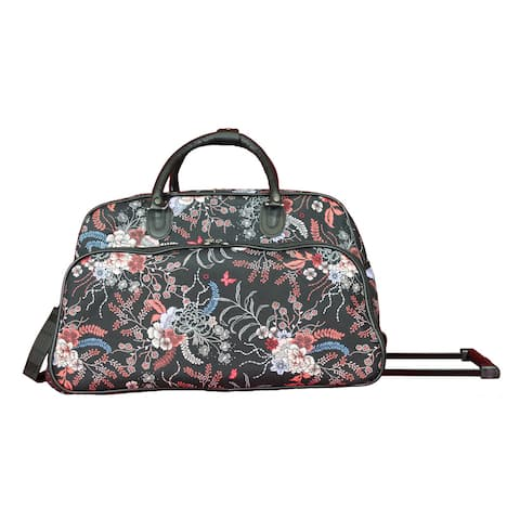 World Traveler Spring Bloom 21-inch Carry-On Rolling Duffel Bag