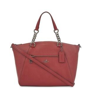 Coach Prairie Dark/Cherry Chain Satchel Handbag