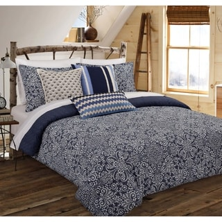 Nouvelle Home Cutwork Medallion Cotton Comforter Set