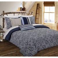 Nouvelle Home Cutwork Medallion Cotton Comforter Set