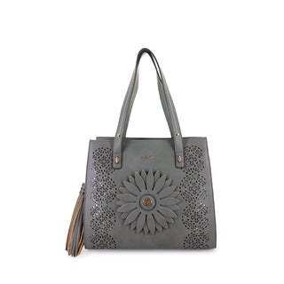 LANY 'Sheri' 3-D Flower, Tassel, & Lasercut Tote Bag