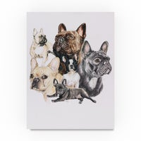 066c793ee0c05 Shop Hatcher and Ethan  French Bulldog  Canvas Art - On Sale - Ships ...