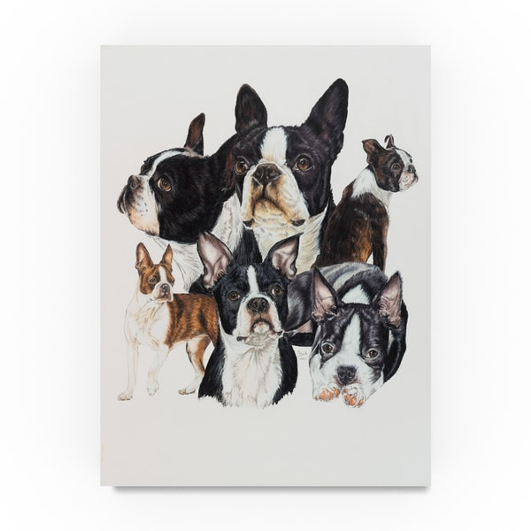 Shop Barbara Keith Boston Terrier Canvas Art On Sale
