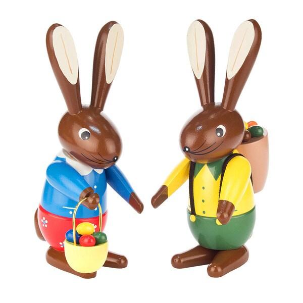 Alexander Taron Dregeno Rabbit Couple Easter Ornament