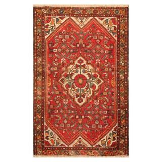 Handmade Herat Oriental Persian Hand-knotted Tribal Hamadan Wool Rug (3'3 x 5') - 3'3 x 5'
