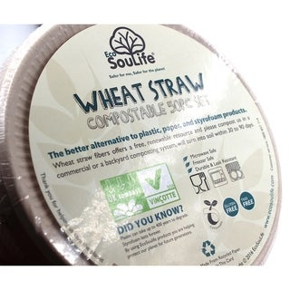 """EcoSouLife Wheatstraw - Plate 6"""", Unbleached - 50 CT"""