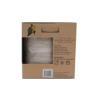 "EcoSouLife Cornstarch - Side Plate 200PC 7"", Natural"