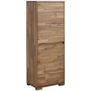 Scandinavian Living Surf Distressed Brushed Acacia Wood Cabinet with 2 Doors