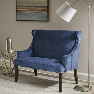 Madison Park Lucy Blue Settee