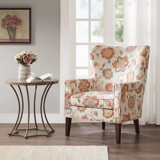 Link to Madison Park Halford Accent Wingback Chair 3-color Option Similar Items in Arm Chairs