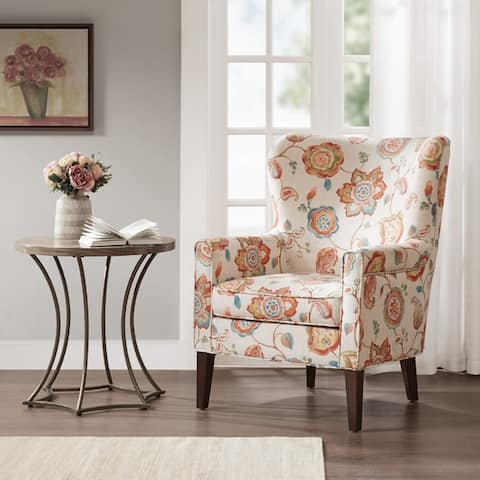 Madison Park Halford Accent Wingback Chair 3-color Option