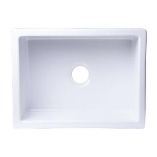 Alfi Brand White Fireclay 24-inch Undermount Kitchen Sink