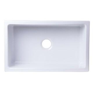 Alfi Brand White Fireclay Undermount Kitchen Sink