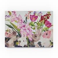 Carissa Luminess 'Three Bunnies' Canvas Art